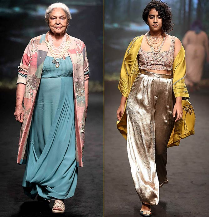 Designers Rixi and Tinka chose models of all ages: The youngest on the ramp was 19, and the oldest in her 80s.