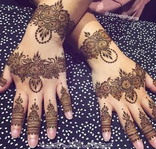 latest Mehndi Designs Images for Brides on Wedding