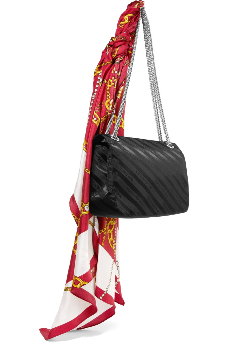 A Thing Of The Day: A Bag With A Handkerchief Balenciaga /></p> <p></p> <p style=