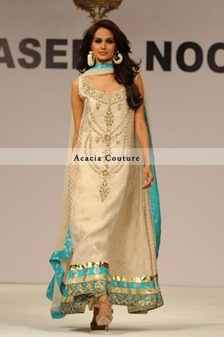 Beige A Line Designer Dress
