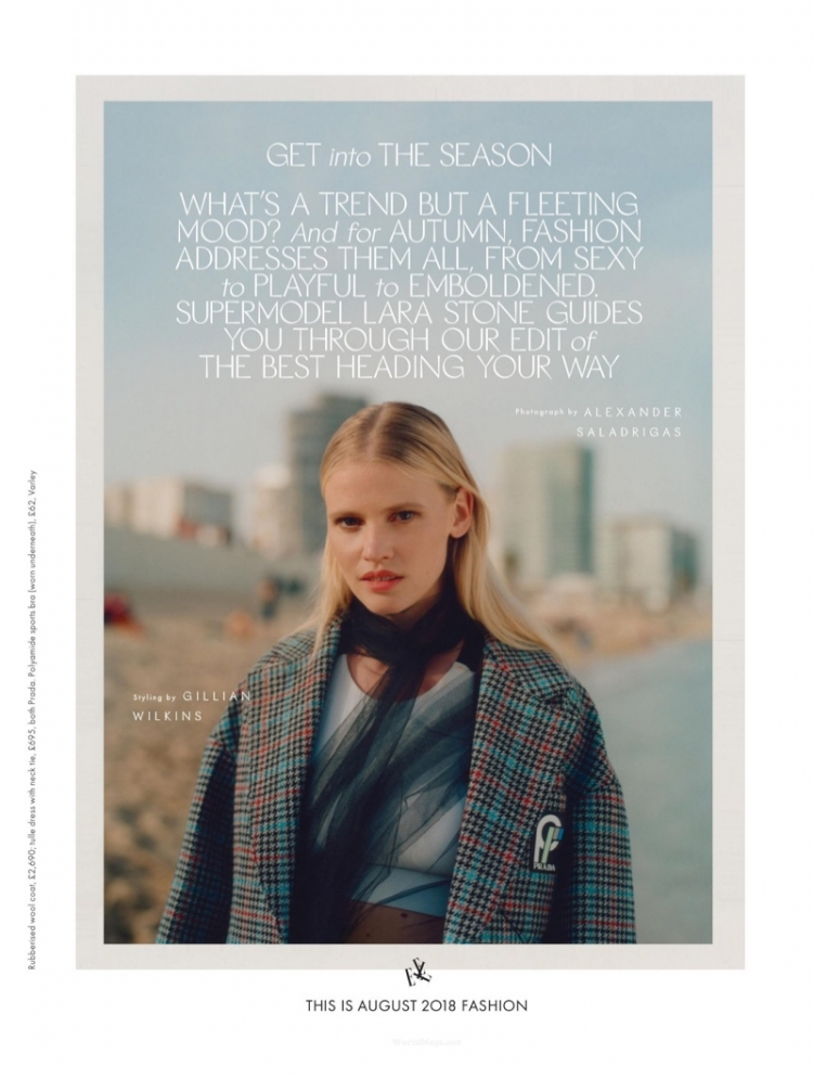 Gallery: Lara Stone In Photography For Elle Uk /></p> <p></p> <p style=